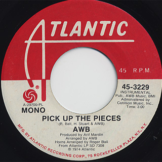 Average White Band / Pick Up The Pieces back