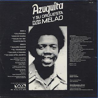 Azuquita / Pura Salsa back