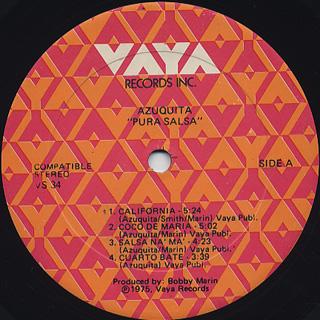 Azuquita / Pura Salsa label