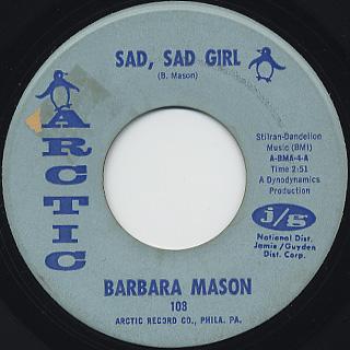 Barbara Mason / Sad, Sad Girl