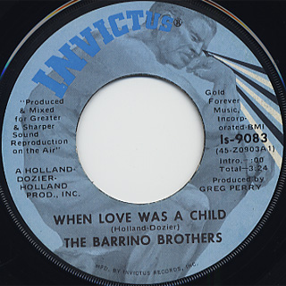 Barrino Brothers / Trapped In A Love back