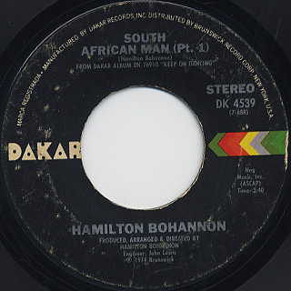 Bohannon / South African Man