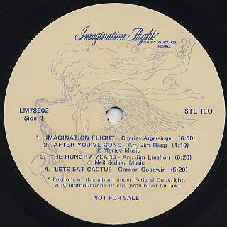 Chaffey College Jazz Ensemble / Imagination Flight label