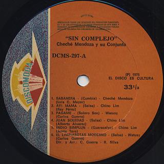 Cheche Mendoza Y Su Conjunto / !Sin Complejo.....! label