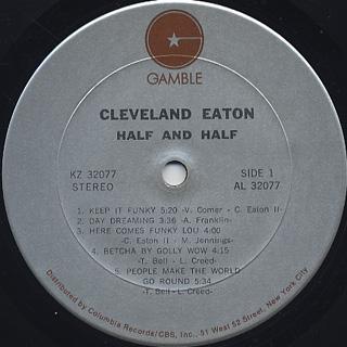Cleveland Eaton / Half and Half label