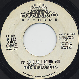Diplomats / I Can Give You Love c/w I'm So Glad I Found You back