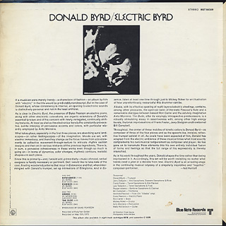 Donald Byrd / Electric Byrd back
