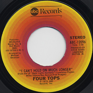 Four Tops / I Can't Hold On Much Longer