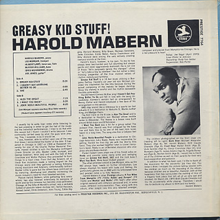 Harold Mabern / Greasy Kid Stuff! back