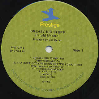 Harold Mabern / Greasy Kid Stuff! label