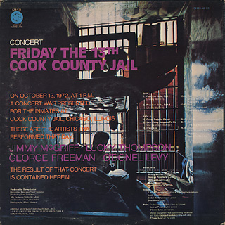 Jimmy McGriff / Friday The 13th Cook Counrt Jail back