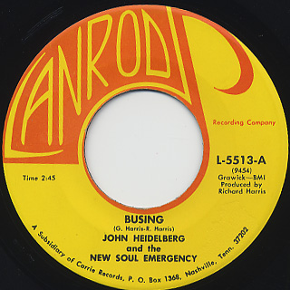 John Hedelberg & The New Soul Emergency / Busing c/w Fire Ball