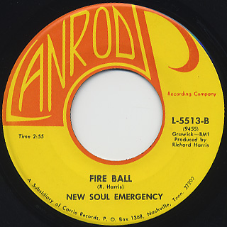 John Hedelberg & The New Soul Emergency / Busing c/w Fire Ball back