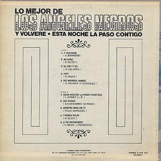 Los Angeles Negros / Lo Meyor De Los Angeles Negros Vol. 2 back