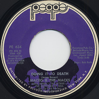Maceo & The Macks / Doing It To Death