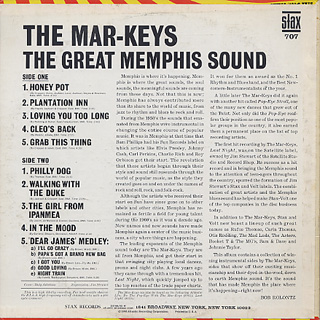 Mar-Keys / The Great Memphis Sound back
