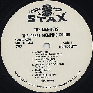 Mar-Keys / The Great Memphis Sound label