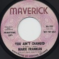 Marie Franklin / You ain't Changed