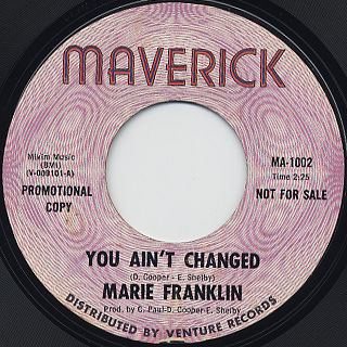 Marie Franklin / You ain't Changed back