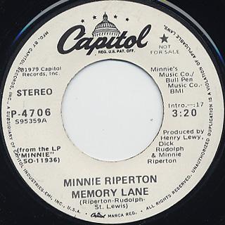 Minnie Riperton / Memory Lane (45)