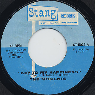 Moments / Key To My Happiness c/w To You With Love