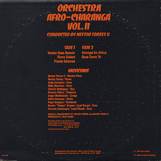 Nestor Torres II / Orchestra Afro-Charanga Vol.II back