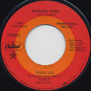 Peggy Lee / Spinning Wheel