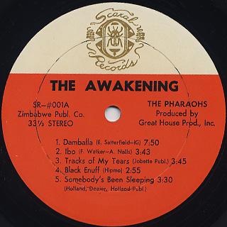 Pharaohs / The Awakening label