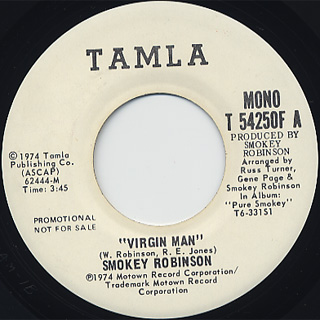 Smokey Robinson / Virgin Man back