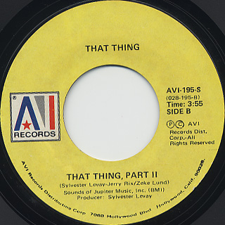 That Thing / That Thing (Part I) back