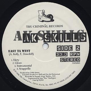 AK Skills / One Life Ta Live back