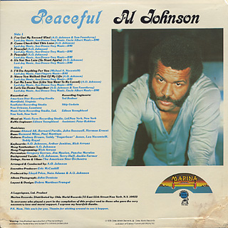 Al Johnson / Peaceful back