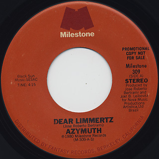 Azymuth / Dear Limmertz front