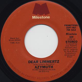 Azymuth / Dear Limmertz back
