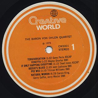 Baron Von Ohlen Quartet / The Baron label