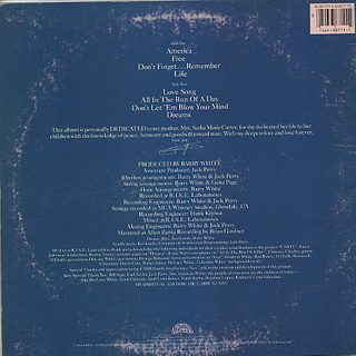 Barry White / Dedicated back