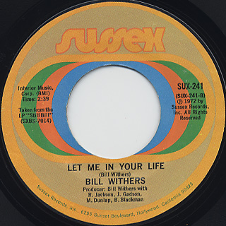 Bill Withers / Use Me c/w Let Me In Your Life back