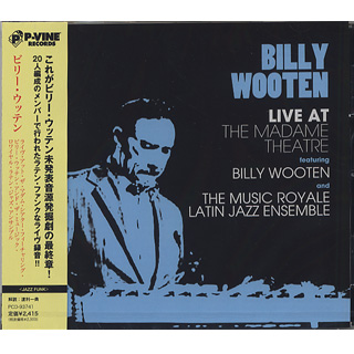 Billy Wooten / Live At The Madame Theatre