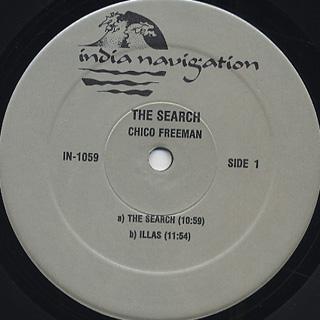 Chico Freeman / The Search label