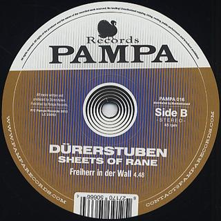 Durerstuben / Sheets Of Rane back