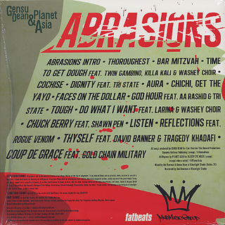 Gensu Dean & Planet Asia / Abrasions back