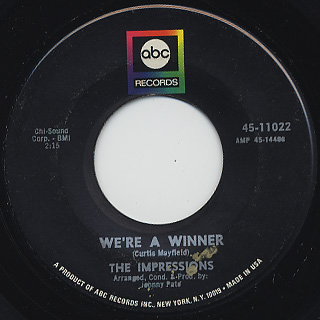 Impressions / We're A Winner c/w It's All Over