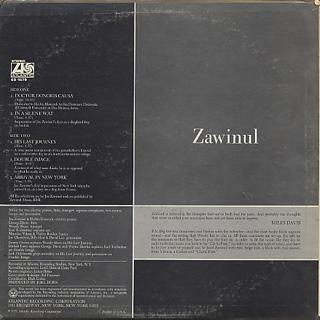 Joe Zawinul / Zawinul back