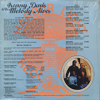 Kenny Davis & The Melodyaires / Glory To His Name back