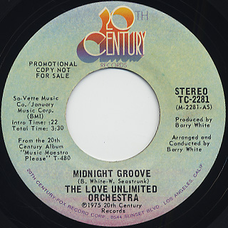 Love Unlimited Orchestra / Midnight Groove back
