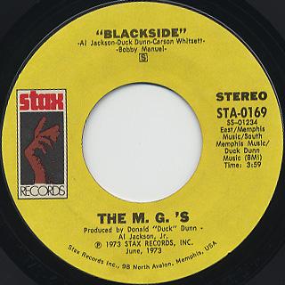 M.G.'s / Sugarcane back