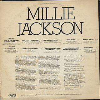 Millie Jackson / I Got To Try It One Time back