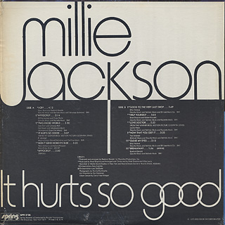 Millie Jackson / It Hurts So Good back