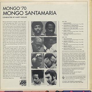 Mongo Santamaria / Mongo '70 back