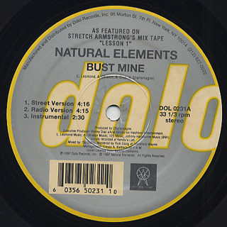 Natural Elements / Bust Mine c/w Paper Chase back